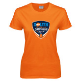 Ladies Orange T Shirt-Big South Football Championship 2017