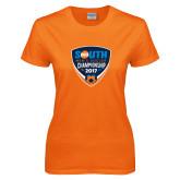 Ladies Orange T Shirt-Big South Mens Soccer Championship 2017