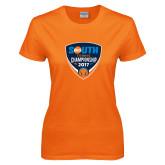Ladies Orange T Shirt-Big South Tennis Championship 2017