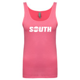 Next Level Ladies Junior Fit Fuchsia Jersey Tank-Big South