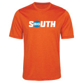 Performance Orange Heather Contender Tee-Big South