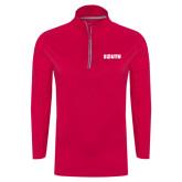 Ladies Pink Raspberry Sport Wick Textured 1/4 Zip Pullover-Big South