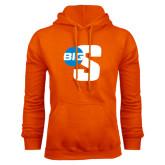 Orange Fleece Hoodie-Big S