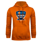 Orange Fleece Hoodie-Big South Track and Field Championship