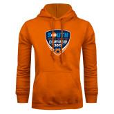 Orange Fleece Hoodie-Big South Mens Soccer Championship 2017