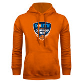 Orange Fleece Hoodie-Big South Volleyball Championship 2017
