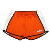Ladies Orange/White Team Short-Big South