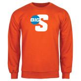 Orange Fleece Crew-Big S
