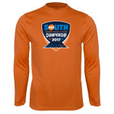 Performance Orange Longsleeve Shirt-Big South Track and Field Championship