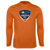 Performance Orange Longsleeve Shirt-Big South Football Championship 2017