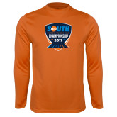 Performance Orange Longsleeve Shirt-Big South Outdoor Track and Field Championship 2017