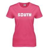 Ladies Fuchsia T Shirt-Big South