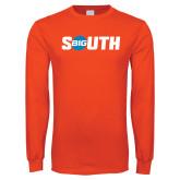 Orange Long Sleeve T Shirt-Big South
