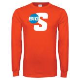 Orange Long Sleeve T Shirt-Big S