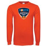 Orange Long Sleeve T Shirt-Big South Baseball Championship 2017