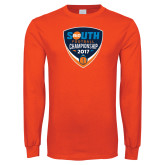 Orange Long Sleeve T Shirt-Big South Football Championship 2017