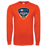 Orange Long Sleeve T Shirt-Big South Volleyball Championship 2017