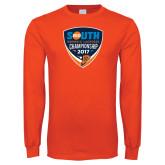 Orange Long Sleeve T Shirt-Big South Womens Lacrosse Championship 2017