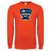 Orange Long Sleeve T Shirt-Big South Outdoor Track and Field Championship 2017