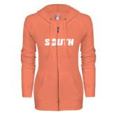 ENZA Ladies Coral Light Weight Fleece Full Zip Hoodie-Big South