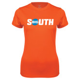 Ladies Syntrel Performance Orange Tee-Big South