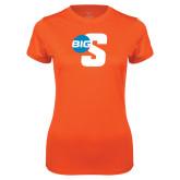 Ladies Syntrel Performance Orange Tee-Big S