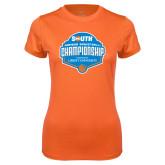 Ladies Syntrel Performance Orange Tee-Big South Womens Basketball Championship
