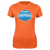 Ladies Syntrel Performance Orange Tee-Big South Mens Basketball Championship