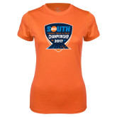 Ladies Syntrel Performance Orange Tee-Big South Track and Field Championship