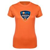 Ladies Syntrel Performance Orange Tee-Big South Baseball Championship 2017