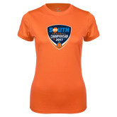 Ladies Syntrel Performance Orange Tee-Big South Football Championship 2017
