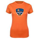 Ladies Syntrel Performance Orange Tee-Big South Volleyball Championship 2017