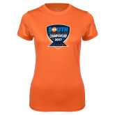 Ladies Syntrel Performance Orange Tee-Big South Outdoor Track and Field Championship 2017