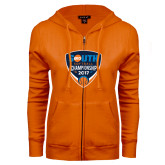 ENZA Ladies Orange Fleece Full Zip Hoodie-Big South Softball Championship 2017