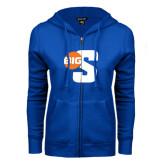 ENZA Ladies Royal Fleece Full Zip Hoodie-Big S