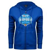 ENZA Ladies Royal Fleece Full Zip Hoodie-Big South Womens Basketball Championship