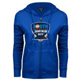 ENZA Ladies Royal Fleece Full Zip Hoodie-Big South Track and Field Championship