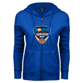 ENZA Ladies Royal Fleece Full Zip Hoodie-Big South Volleyball Championship 2017