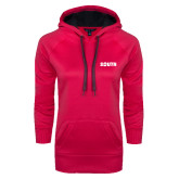 Ladies Pink Raspberry Tech Fleece Hoodie-Big South