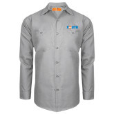Red Kap Light Grey Long Sleeve Industrial Work Shirt-Big South