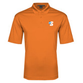 Orange Performance Fine Jacquard Polo-Big S