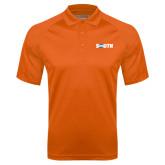Orange Textured Saddle Shoulder Polo-Big South