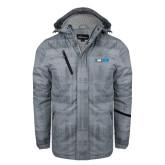 Grey Brushstroke Print Insulated Jacket-Big South