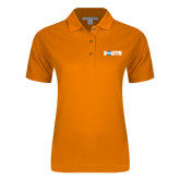 Ladies Easycare Orange Pique Polo-Big South