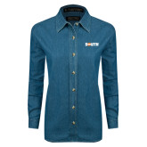 Ladies Denim Long Sleeve Shirt-Big South