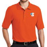 Orange Easycare Pique Polo-Big S
