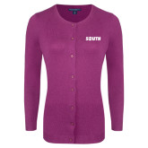 Ladies Deep Berry Cardigan-Big South