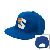 Royal Flat Bill Snapback Hat-Big S