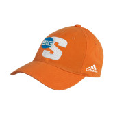 Adidas Orange Slouch Unstructured Low Profile Hat-Big S