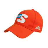 Adidas Orange Structured Adjustable Hat-Big S
